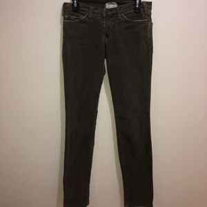 CURRENT/ELLIOTT Sz 27 Gray Skinny Leg Corduroy